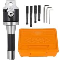Aletler'ten Sıkıcı aracı'de 2 inç Sıkıcı Kafa Karbür Sıkıcı Kafa ile Set R8 Sap Tutucu Delme kulaklık  1/2 Inç Endekslenebilir Sıkıcı Barlar için Processi