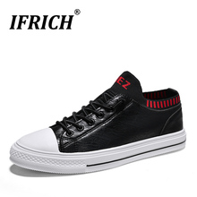Autumn/Winter Men Casual Sock Shoes New Trend Youth Fashion Mens High Top Leather Brand Designer Flats
