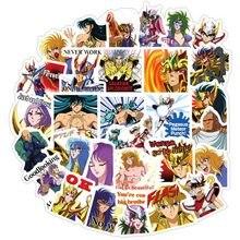40 Pcs/set Anime Saint Seiya Series Cartoon Notebook Stickers Paper  Hand book DIY Decoration Stickers