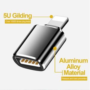 Image 3 - OTG 변환기 번개 USB 3.0 어댑터 아이폰 7 8 6 6s 플러스 11 프로 맥스 X XS XR 키트 변환기 iOS 13 버전