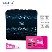 IEPLO Super V98 TV BOX 4G DDR3  Tv Box Android 9.0 Boxes Iptv Subscription RK3318 Quad-Cor M3u Smart