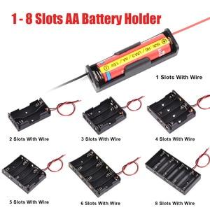 Image 5 - Protable Battery Charger Storage Box Case Bag    Aa Aaa Battery No. 5 No. 7 9V No. 1 No. 2 Battery Storage Bag Shockproof Pack