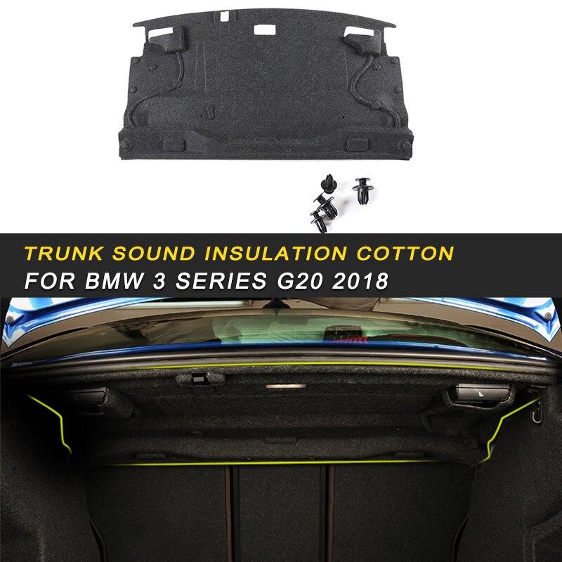 Couverture de tapis de pare-feu de coffre de voiture Deadener intérieur chaleur isolation acoustique coton pour BMW série 3 F30 2012-2018 Auto
