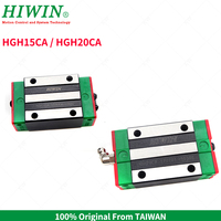Free Shipping Original Taiwan HIWIN Linear Guide Block HGH15CA HGH20CA Linear Slider for HGR15 20mm linear Rails