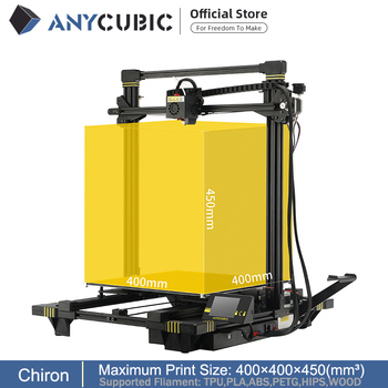 ANYCUBIC Chiron New 3D Printer kit Plus Size Large Ultrabase Extruder Screen Dual Z Axisolor Updated Impresora 3d Drucker 1