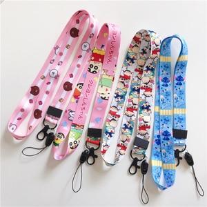 Image 5 - Wholesale cartoon pattern pendant lanyard key ID gym with USB badge clip DIY mobile phone hanging neck rope