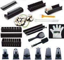 IYouNice 11 pièces/ensemble Kit d'équipement de fabricant de Sushi, japonais boule de riz gâteau rouleau moule Sushi moule multifonctionnel faisant des outils de Sushi