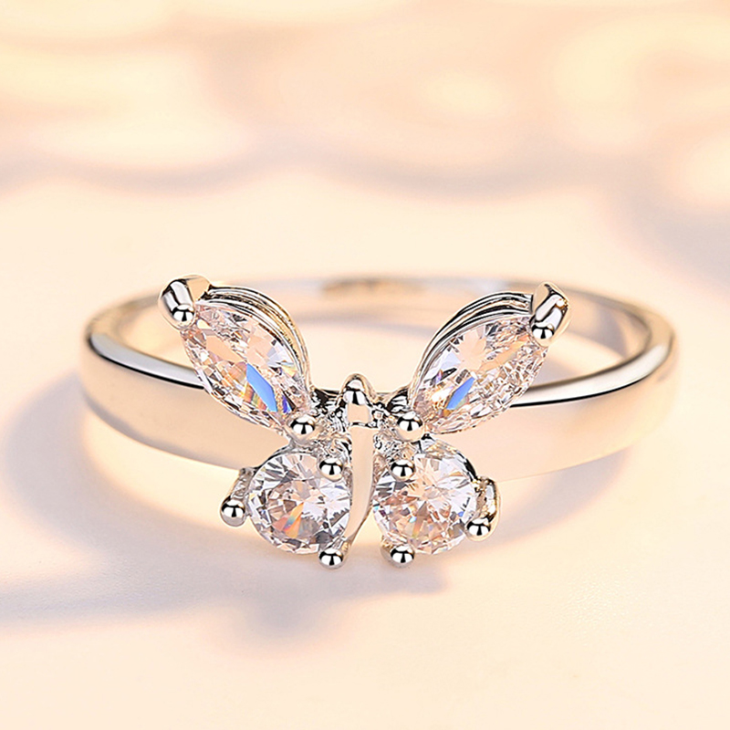 Butterfly Style Engagement Rings