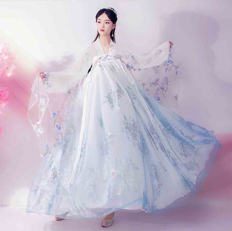 Hanfu Women Chinese Ancient Tradition Vintage Hanfu Kimono Dress Fantasia Female Carnival Cosplay Costume For Lady Plus Size XL