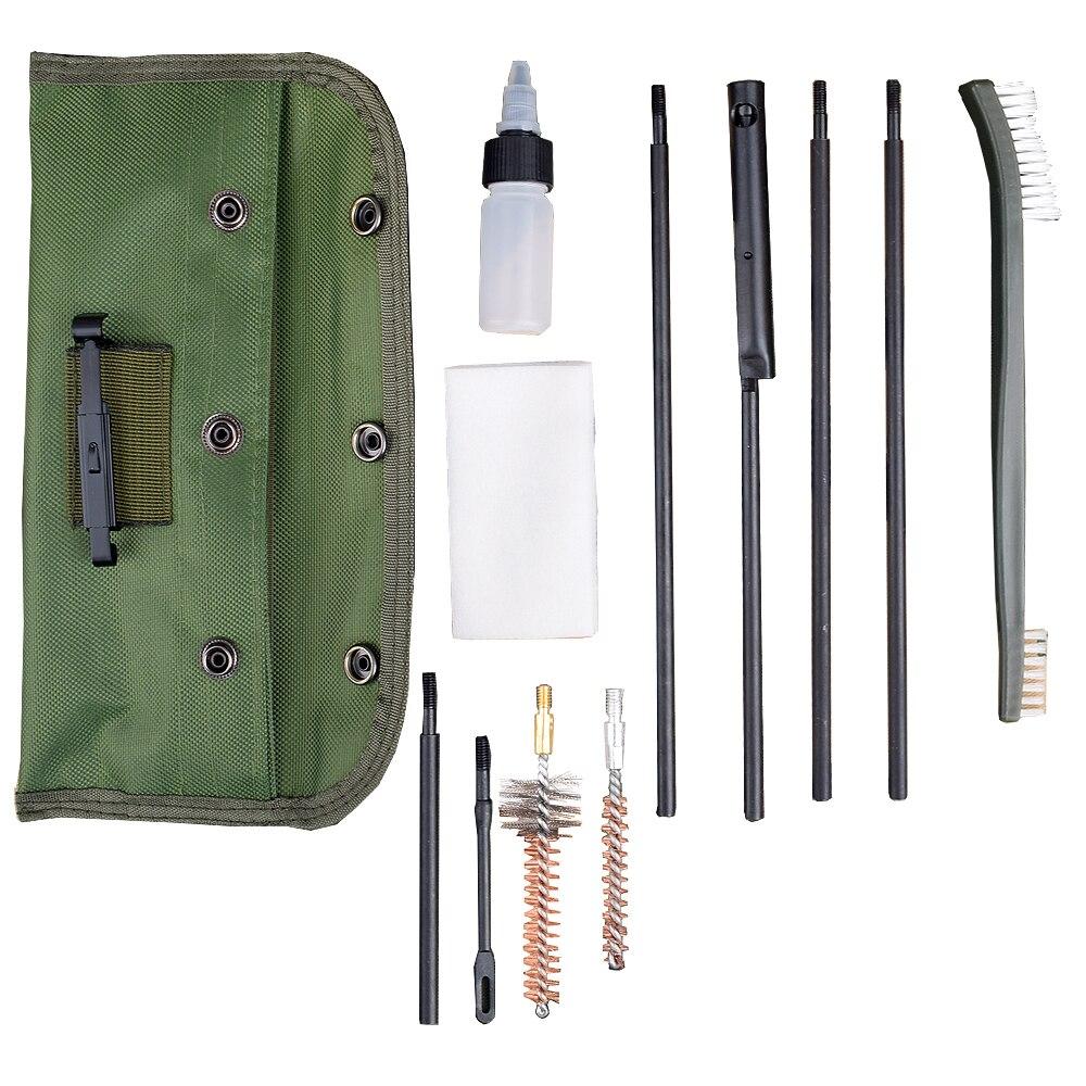 10 шт./компл. винтовка пистолет чистящие кисти в комплекте стержень нейлоновый чехол Страйкбол дробовик очиститель пистолета для 223 22LR охота ...