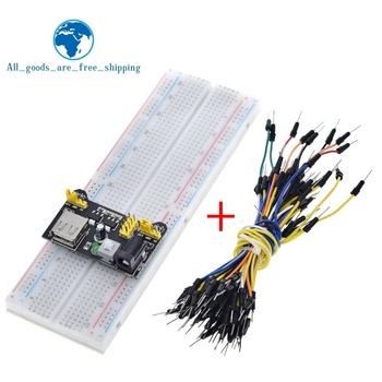 3 3V 5V MB102 zasilanie płytki prototypowej moduł + MB-102 830 punktów prototypowa deska do chleba dla arduino kit + 65 przewody połączeniowe hurtownie tanie i dobre opinie CN (pochodzenie) Nowy REGULATOR NAPIĘCIA do komputera -40-+85 3 3V 5V electronic module