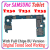 Free shipping Original For Samsung Galaxy Tab 4 T230 T231 T235 Motherboard With Android Main Logic Board Tested Good working MB