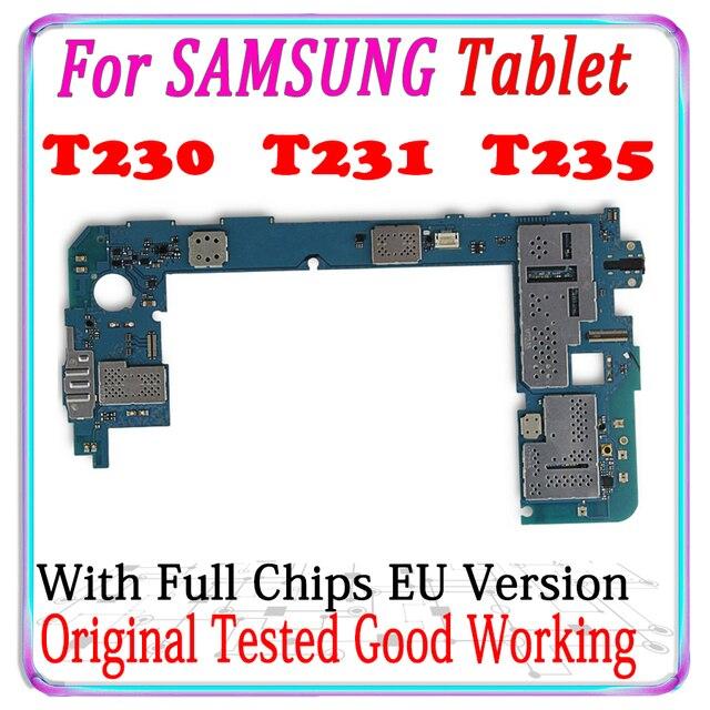 Placa base Original con Android para Samsung Galaxy Tab 4 T230 T231 T235, placa lógica principal probada, buen funcionamiento, envío gratis
