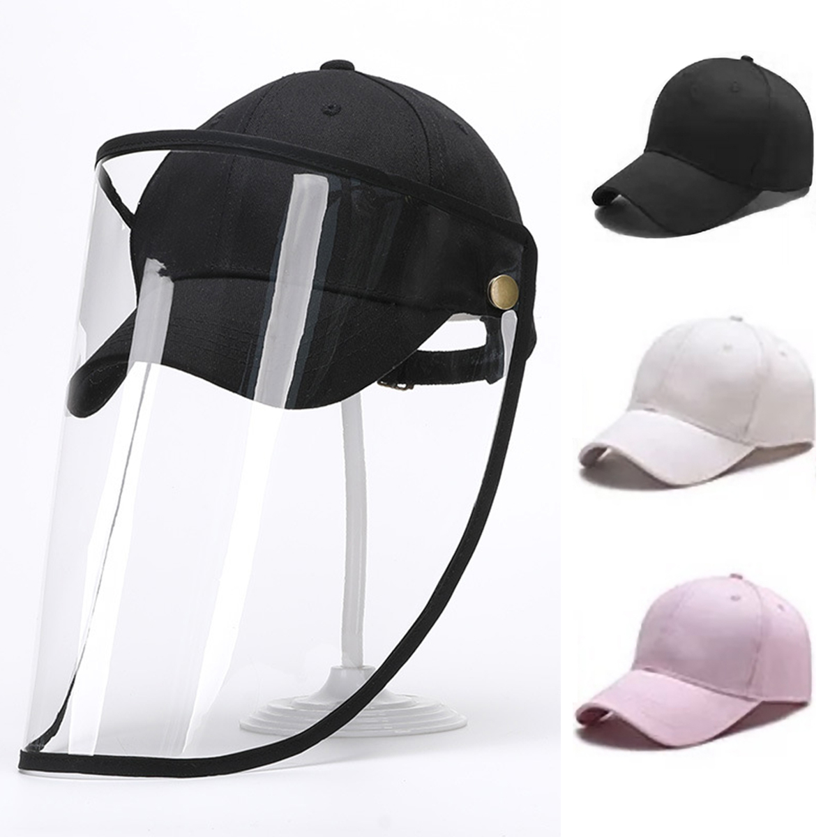 New Anti Spitting Protective Hat Dustproof Baseball Cap With Detachable Faces Shield For Men Women 56-60cm Head Circumference