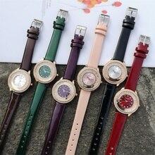 цена на Luxury Brand Rhinestone Watches Women Fashion Diamond Quartz Clock Casual Elegant Ladies Wristwatches Female Pu Leather Watch