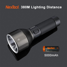 Origina Xiaomi NexTool Rechargeable Flashlight 2000lm 380m 5 Modes IPX7 Waterproof LED Light Type C Searching Torch for Camping