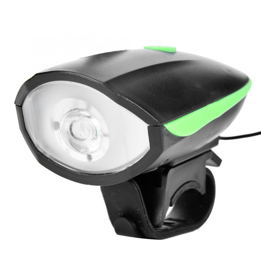 USB Charging High Bright Front Light Cycling Horn Warning Lamp for Bike Bicycle
