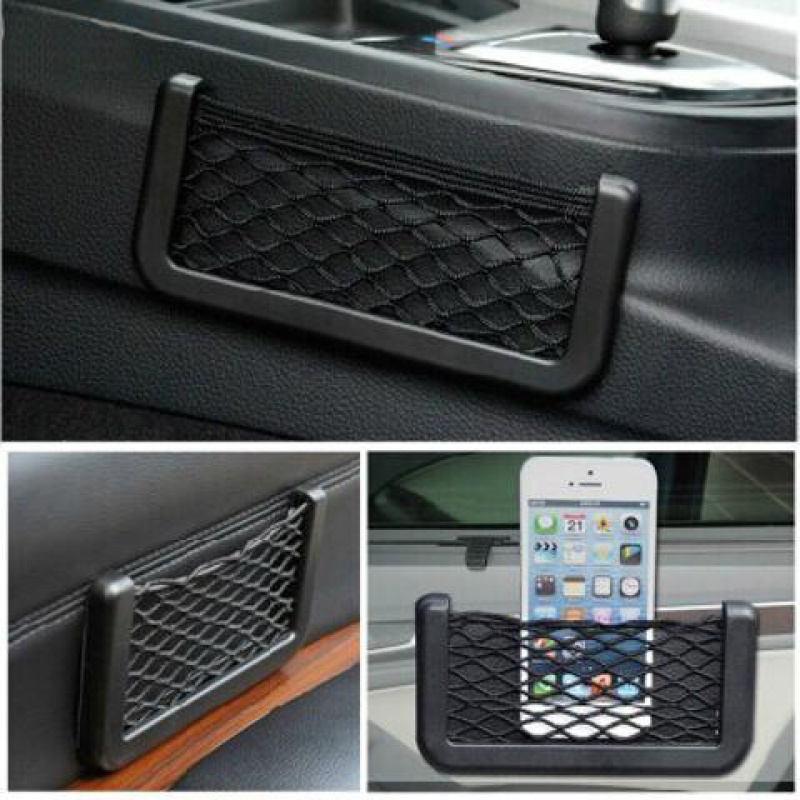 For Mercedes-Benz GLA GLC GLE GLK Car Seat Side Back Storage Net Bag Phone Holder Pocket Organizer Stowing Tidying Trunk Net