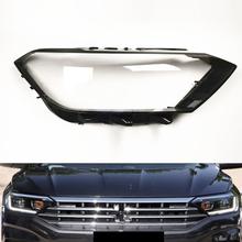 Dla VW Jetta Sagitar 2019 2020 osłona reflektora reflektor samochodowy wymiana obiektywu Auto Shell tanie tanio YJWAUTO Reflektory Headlamp Lens SZ B567 Polycarbonate (PC) plastic Headlamp Shell 0 9 KG Best replacement for the worn headlight cover