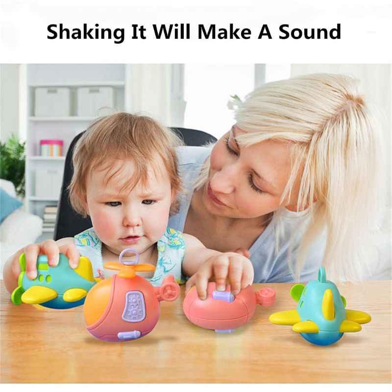 Kualitas Tinggi Bayi Bayi Mainan Pesawat Handbells Mainan Teether Bayi Tempat Tidur Kereta Gantung Balita Bayi Baru Lahir Hadiah Y4QA
