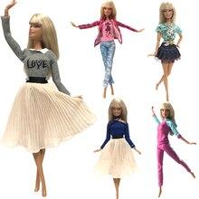 NK смешанный стиль Принцесса Кукла платье Топ Мода наряды юбка одежда ручной работы для куклы Барби аксессуары подарок детские игрушки JJ