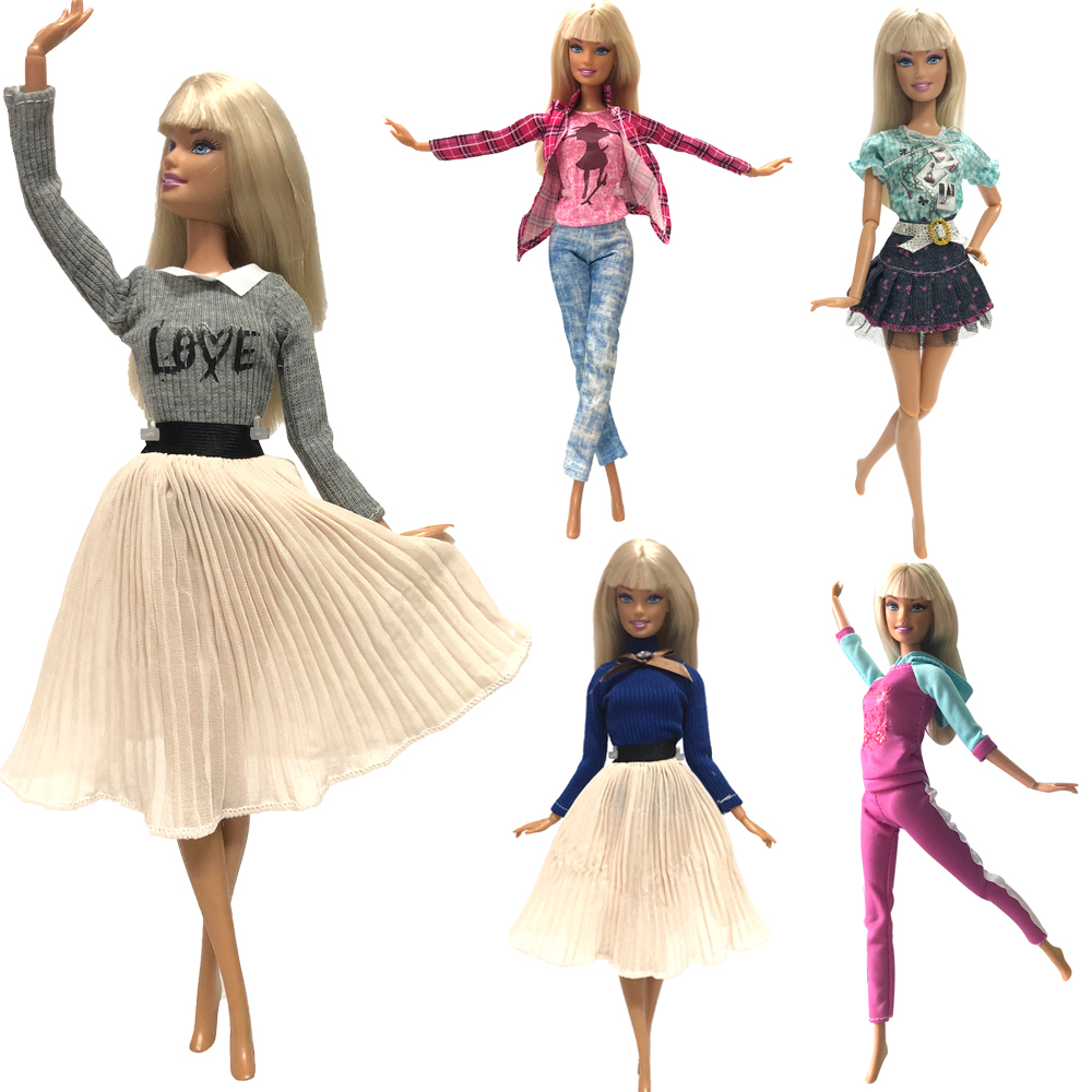 NK Mix Style Princess Doll Dress Top Fashion Outfits Skirt Handmade Clothes For Barbie Doll Accessories Gift Baby Toys  JJ-in Dolls Accessories from Toys & Hobbies