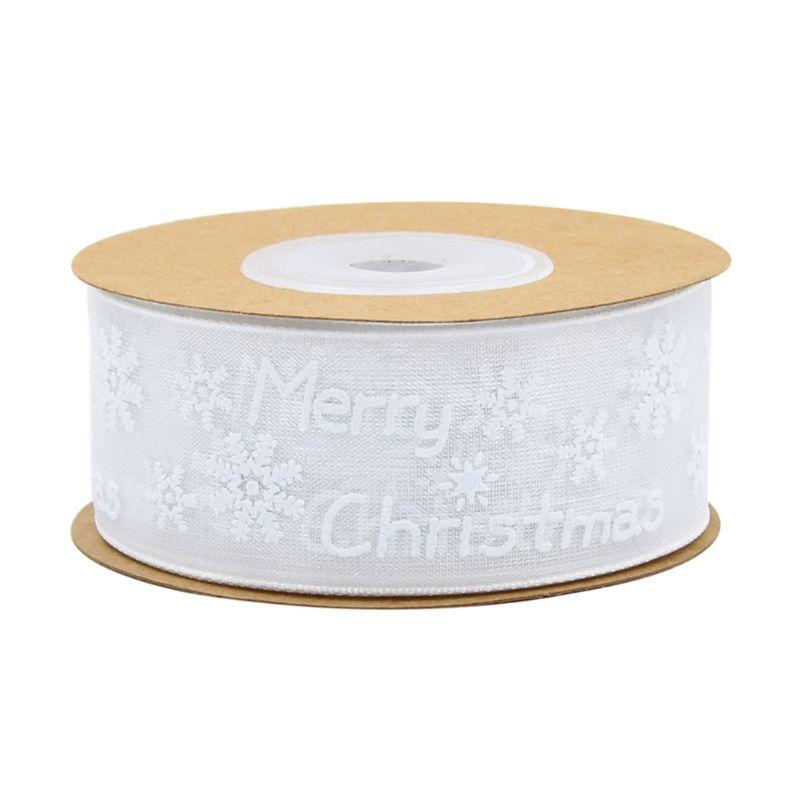 10 m/20 m снежинка шаблон Счастливого Рождества украшения марлевые ленты для поделок
