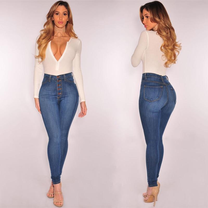 4XLPlus Size Jeans Women High Waist Stretch Skinny Denim Trousers Pencil Pants Slim Push Up Jeggings Femme 2020