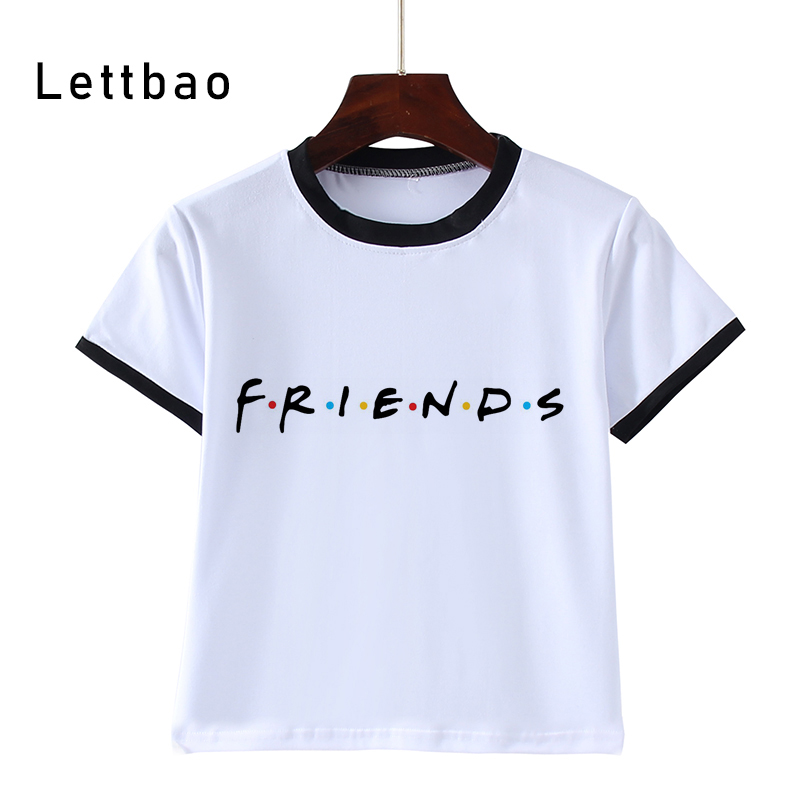 Hot Sale FRIENDS Print Kids T-Shirts Children Summer Baby Clothes Boys/Girls Tops Tees