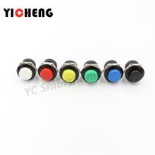 цена на 6 pcs  Momentary SPST NO  Round Cap Push Button Switch AC 6A/125V 3A/250V 6color R13-507 momentary push button