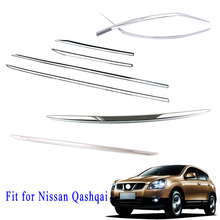 Chrome Accessories Fit For Nissan Qashqai J11 Door Body Reat Door Tail Gate Front Bumper Stripes Cover 2015 2016 2017 2018 2019 chrome door handle protect cover fit for nissan qashqai j11 rogue sport accessories 2014 2015 2106 2017 2018 2019