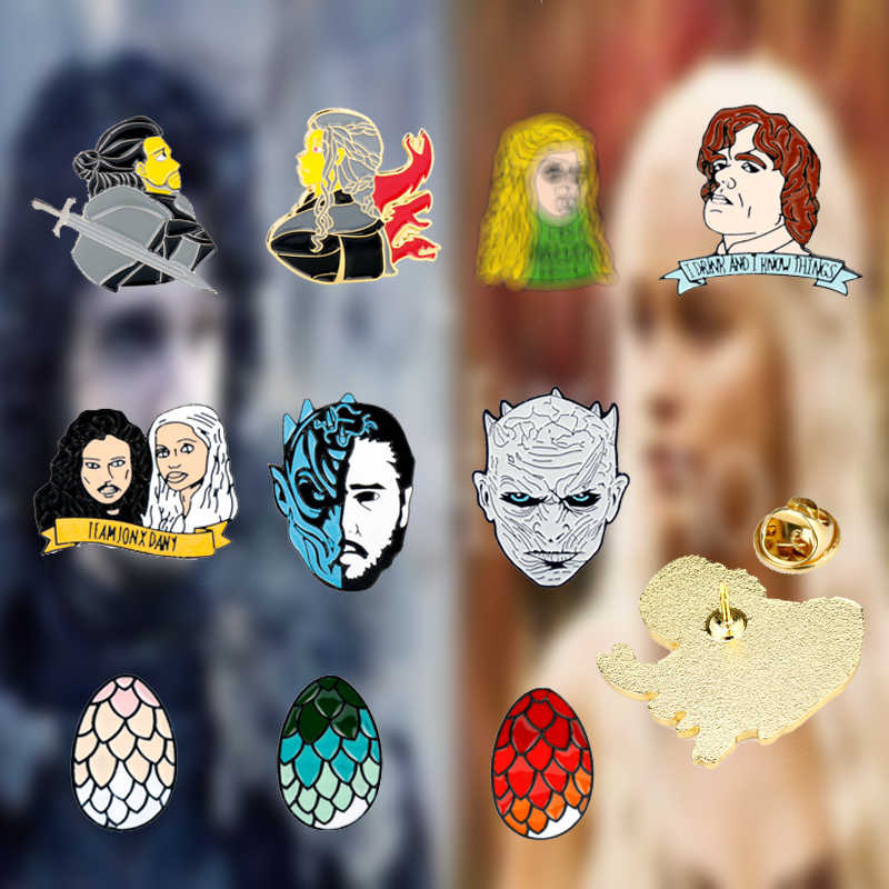 Game Of Thrones Night Koning Jon Sneeuw Daenerys Broche Emaille Pin Broches voor Vrouwen Kostuum Sieraden Mannen Revers Pin Badge gift