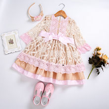 Cutestyles New Girl Party Dress With Carved Hollow Design Girls Wedding Dress With Bow Boutique Kids Clothes EG-DMGD112-C129(Hong Kong,China)