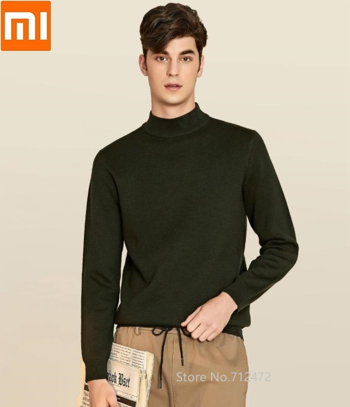 Xiaomi Autumn Winter Men half high collar sweater Machine washable Comfortable and warm Breathable Casual knit Shirt title=