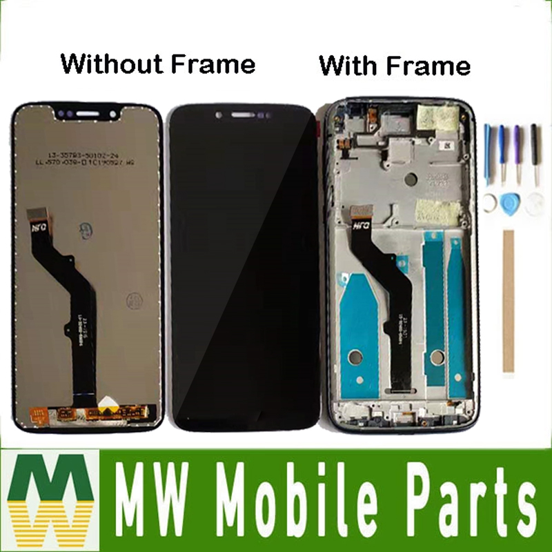 Without/With Frame For Motorola Moto G7 Play LCD Display+Touch Screen Digitizer Sensor Glass Assembly With Tools & TAPE