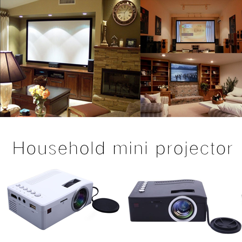 UC18  LCD FHD Smart Projector 3D 1920*1080P Mini Interfaces Projector Support USB AV HDMI Movie Home Cinema Film
