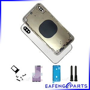 """Image 2 - Battery Cover For i Phone XS MAX 6.5"""" Back Housing Glass Rear Panel with Middle Metal Frame Back Door"""