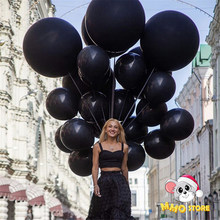5/10/12/18 Inch Black Balloons Flashing Metallic Balloons Birthday Party Decorations Adult Wedding Decoration Helium Globos Toys