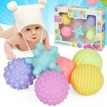 Jeu de balles pour bébé, 4/6 pièces, jouet pour développer les sens tactiles du bébé, balle à main, balle d'entraînement, boule de Massage douce