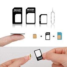 Kit de conector adaptador de tarjeta Micro SIM 4 en 1 para iPhone 6, 7 plus, 5S, Huawei P8 lite, P9, Xiaomi Note 4 Pro, 3S, Mi5, Sims