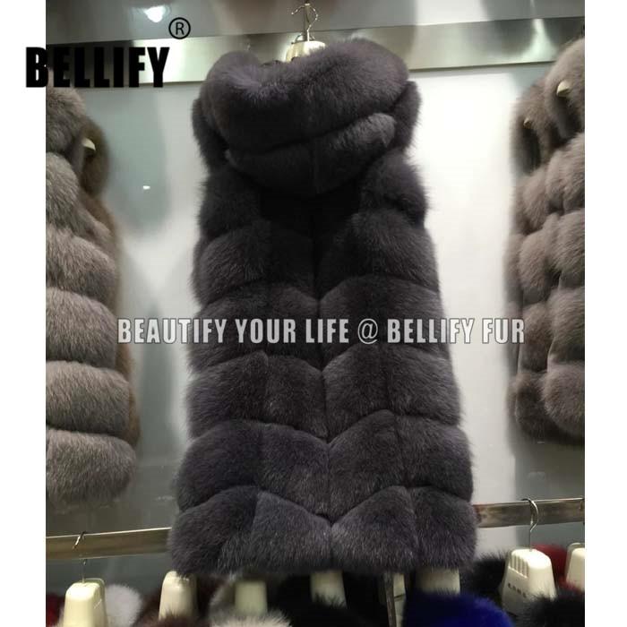 Կլասիկ իրական աղվեսի մորթուց բաճկոն, - Կանացի հագուստ - Լուսանկար 1