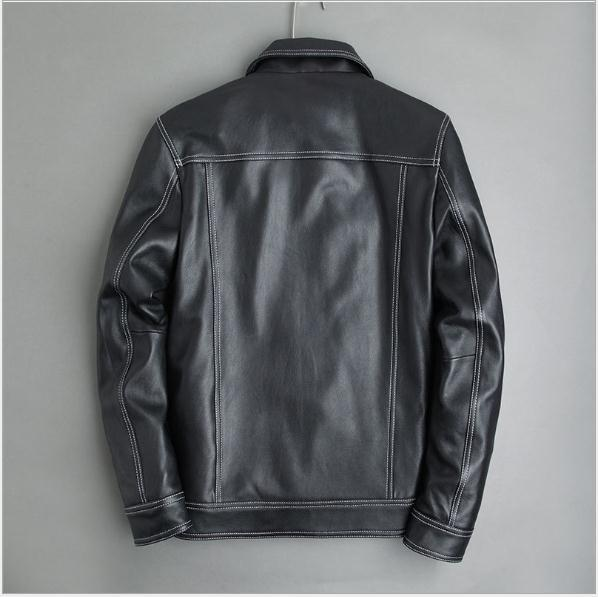 Free Shipping,young Classic Fashion,Men Slim Style Real Sheepskin Jacket.soft Genuine Leather Coat.sales.spring Quality