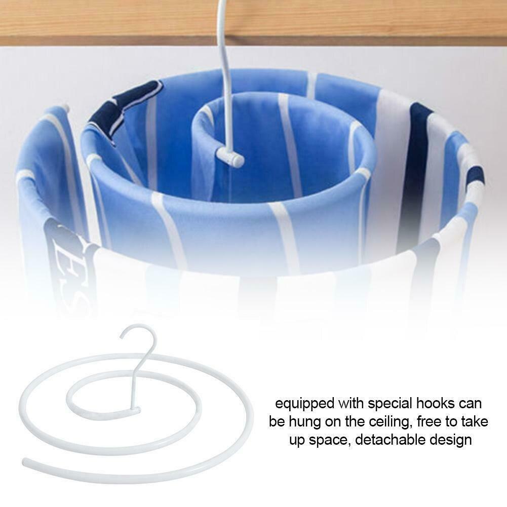 Spiral Blanket Hanger Rotating Storage Rack Space Saver Drying Rack 42cm Stainless Steel E2S