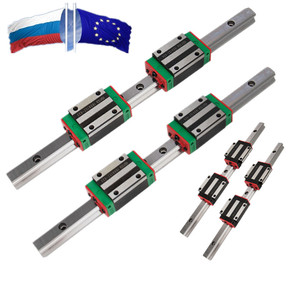 RU ES 2pc HGR20 HGH20 20mm Square Linear Guide Rail 200-1500mm+4 Slide Block Carriages HGH20CA/ HGW20CC for CNC Router Engraving(China)