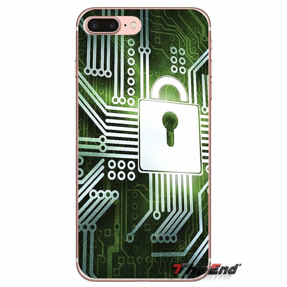 Placa de circuito de tecnología de silicona TPU funda para Sony Xperia M2 M4 M5 E3 T3 XA Aqua Z Z1 Z2 Z3 z5 compacto LG G4 G5 G3 G2 Mini
