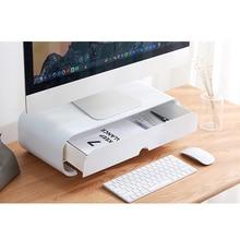 Laptop Stand ABS Ergonomic Computer Monitor Stand Bracket Desk Organizer Drawer Office Holder Storage Rack  Box Accessories