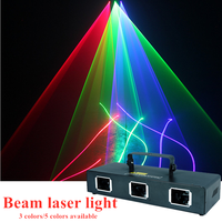 Hot sale LED three heads 3 colors/6 colors RGB full color laser light DJ disco ball Christmas professional stage lighting