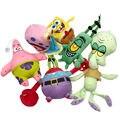 1pc かわいいスポンジボブぬいぐるみスポンジ/パトリックスター/squidward 触手/ユージン/シェルドン/ゲイリーぬいぐるみ人形おもちゃキッズ女の子のため