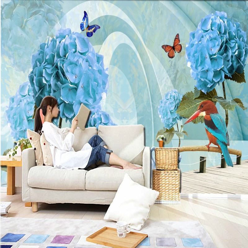 Dropship Photo Wallpaper 3D Stereo Flower Space Extended TV Background Wall Mural Custom Bar Hotel Wallpapers For Living Room