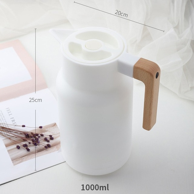 Glass Vacuum Flasks Insulation Thermos 1L Large Household Hot Water Pot Kettle Office Coffee Thermal Warmer Bottles Double Wall 3